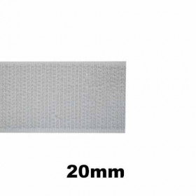 Bande auto-agrippante Blanc - Partie crochet - 20mm - 1m - Mercerie