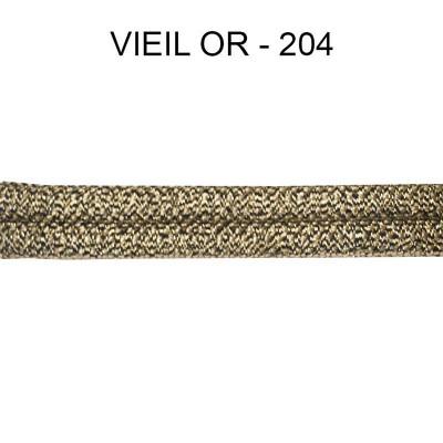 Double passepoil étroit 8 mm 43 IDF - Vieil Or 204