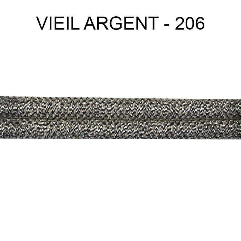Double passepoil étroit 8 mm 43 IDF - Vieil Argent 206 - Passementerie