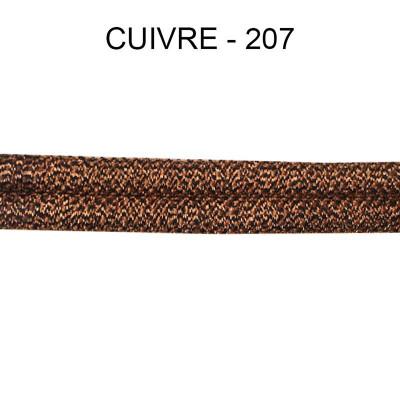 Double passepoil étroit 8 mm 43 IDF - Cuivre 207