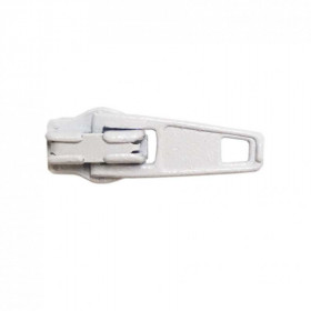 Curseur pour fermeture à glissière 4mm Blanc - Par 100 - Mercerie