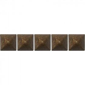 100 Clous tapissiers Louis XIII Vieilli Bronze 16X16 mm - Clous tapissier