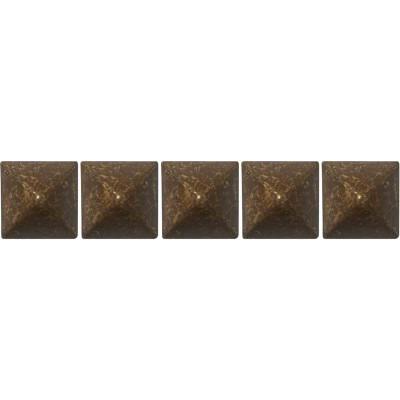 100 Clous tapissier Louis XIII Vieilli Bronze Lentille Fer 16mm