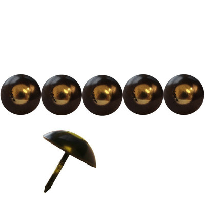 125 Clous tapissier FAM Bronze Renaissance Perle Fer 25 mm