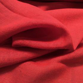 Toile de jute Rouge le mètre - Fournitures tapissier
