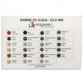 Gamme de clous Artapisserie.fr 10,5 mm - Clous tapissier