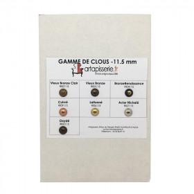 Gamme de clous Artapisserie.fr 11,5 mm - Clous tapissier