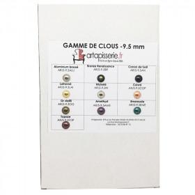 Gamme de clous Artapisserie.fr 9,5 mm - Clous tapissier