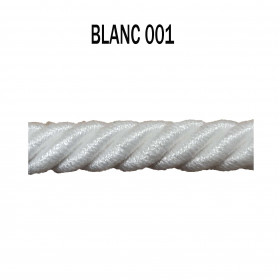 Câblé 8 mm - 001 Blanc - Passementerie