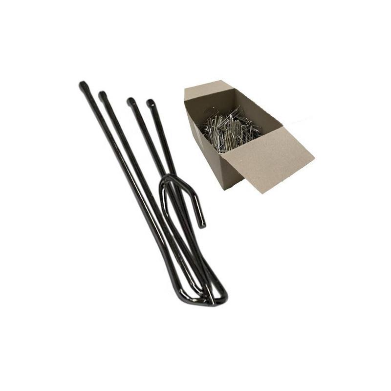 Agrafe flamande 75mm 4 branches - Tête de 30mm - boîte de 100 - Fournitures tapissier