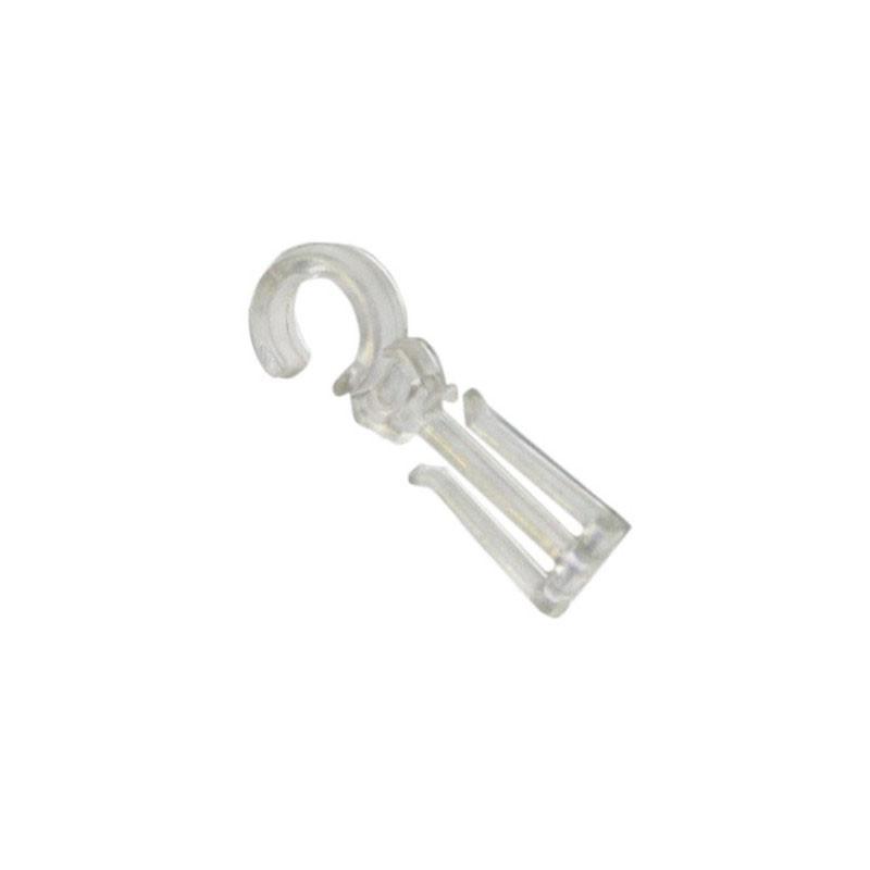 Crochet double ø 10 mm pour anneau, Cristal, boite de 100 - Habillage de la fenêtre