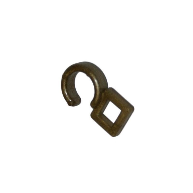 Crochet ø 10 mm pour anneau, Laiton vieilli, boite de 100 - Habillage de la fenêtre