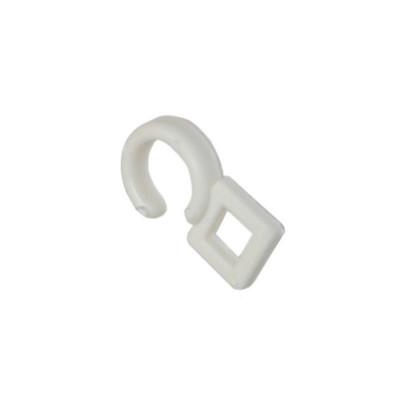 Crochet ø 10 mm pour anneau, Blanc, boite de 100