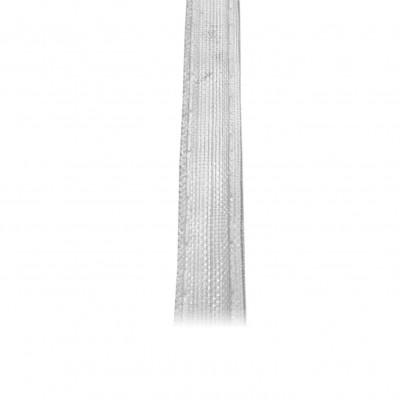 Fronceur vertical 17 mm, transparent, le mètre