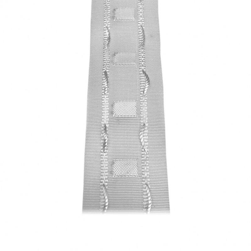 Fronceur plis fix 40 mm blanc, le mètre - Habillage de la fenêtre