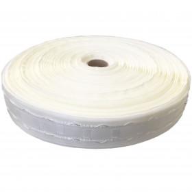 Fronceur plis fix 40 mm blanc, les 150 mètres - Fournitures tapissier