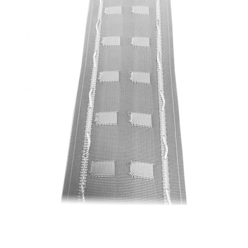 Fronceur plis fix 65 mm blanc, le mètre - Habillage de la fenêtre
