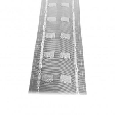 Fronceur plis fix 65 mm blanc, le mètre