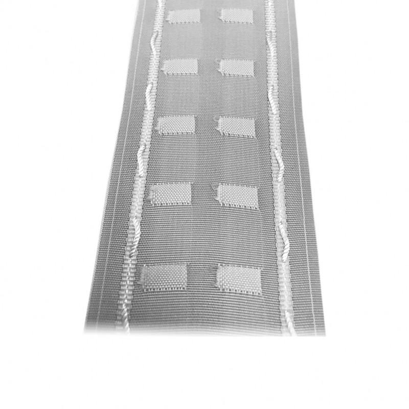 Fronceur Plis fix 75mm, blanc, le mètre - Habillage de la fenêtre