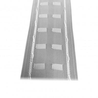 Fronceur Plis fix 75mm, blanc, le mètre