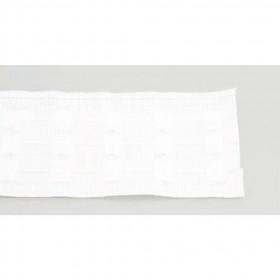 Rufflette Non feu 76 Blanc- Le mètre - Habillage de la fenêtre