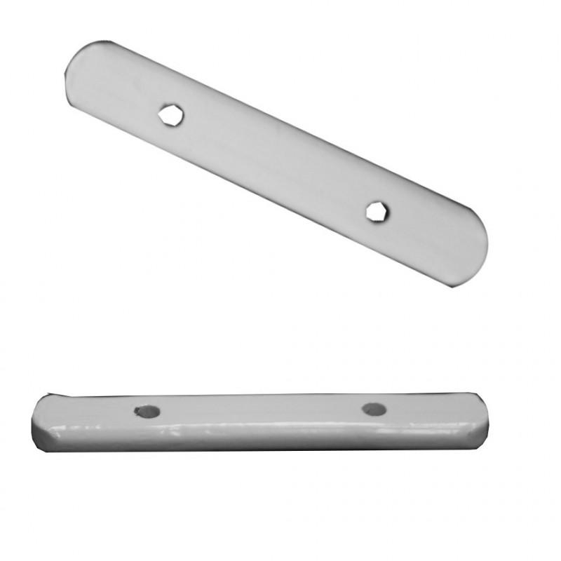 Barrette de plomb laqué blanc 50 g - Vendue à l'unité - Habillage de la fenêtre