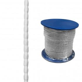 Chapelet de plomb gainé blanc - 35gr - Rouleau de 50m - Habillage de la fenêtre