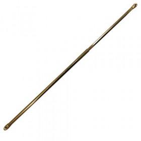 Tringle ronde dorée, extensible dia 7 mm - 80 à 140cm - Habillage de la fenêtre