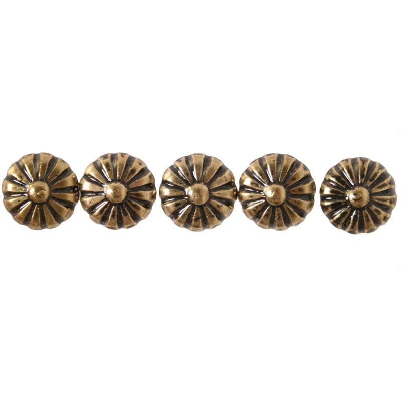 100 Clous tapissiers Tête marguerite Bronze Renaissance 10,5 mm - Clous tapissier
