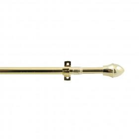 Tringle extensible 12mm, bistro doré 75 à 125 cm - Habillage de la fenêtre