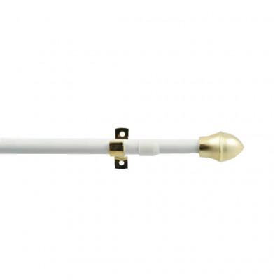 Tringle extensible 12mm, bistro laqué blanc 75 à 125 cm