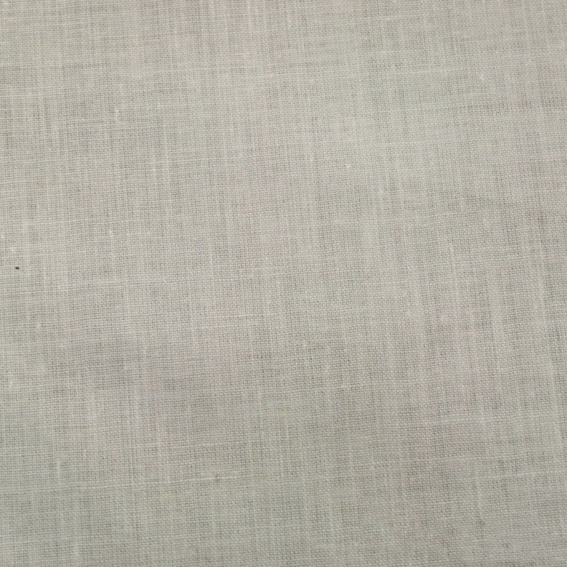 Satinette Polyester / Coton - Blanc Laize 150cm - Habillage de la fenêtre