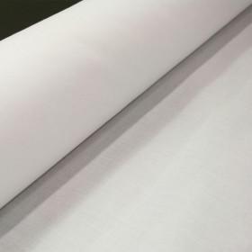 Satinette Polyester / Coton Blanc - Laize 1m50 - Rouleau de 50m - Habillage de la fenêtre