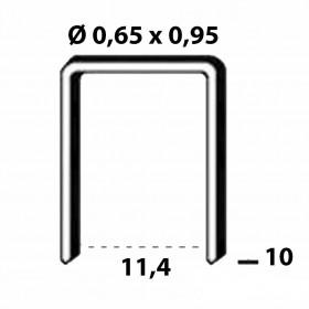 Agrafes Type 80 INOX - 10mm - Fournitures tapissier