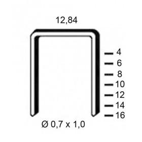 Agrafes Type A ALSAFIX pour agrafeuse pneumatique - Fournitures tapissier