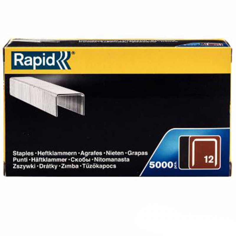 Agrafes Rapid n° 12/8mm - 5000 pièces - Fournitures tapissier