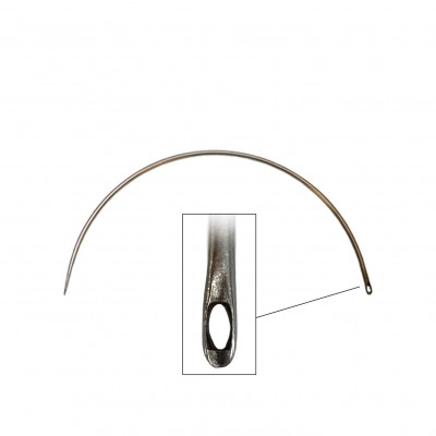 Carrelet courbe 150 mm - Chas latéral - Outils tapissier