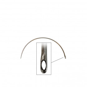 Carrelet courbe 75 mm - Chas latéral - Outils tapissier