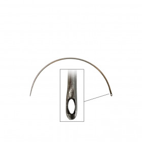 Carrelet courbe 100 mm - Chas latéral - Outils tapissier