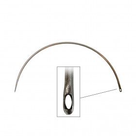 Carrelet courbe 175 mm - Chas latéral - Outils tapissier