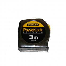 Mètre ruban Stanley PowerLock 3m - Mercerie