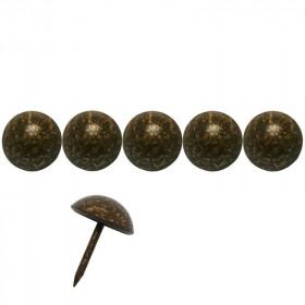 100 Clous tapissiers FAM Bronze doré 14 mm - Clous tapissier