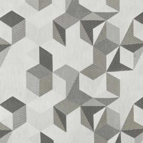 Tissu Nobilis Collection Tiles - Noir 145 cm - Tissus ameublement