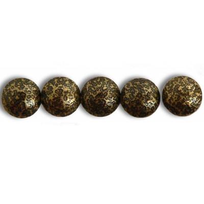 50 Clous tapissier Prestige Bronze Moucheté Perle Fer 16 mm