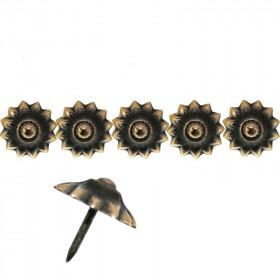 """50 Clous tapissiers \\""""Ivry\\"""" Style Fer Bronze Renaissance 20 mm - Clous tapissier"""