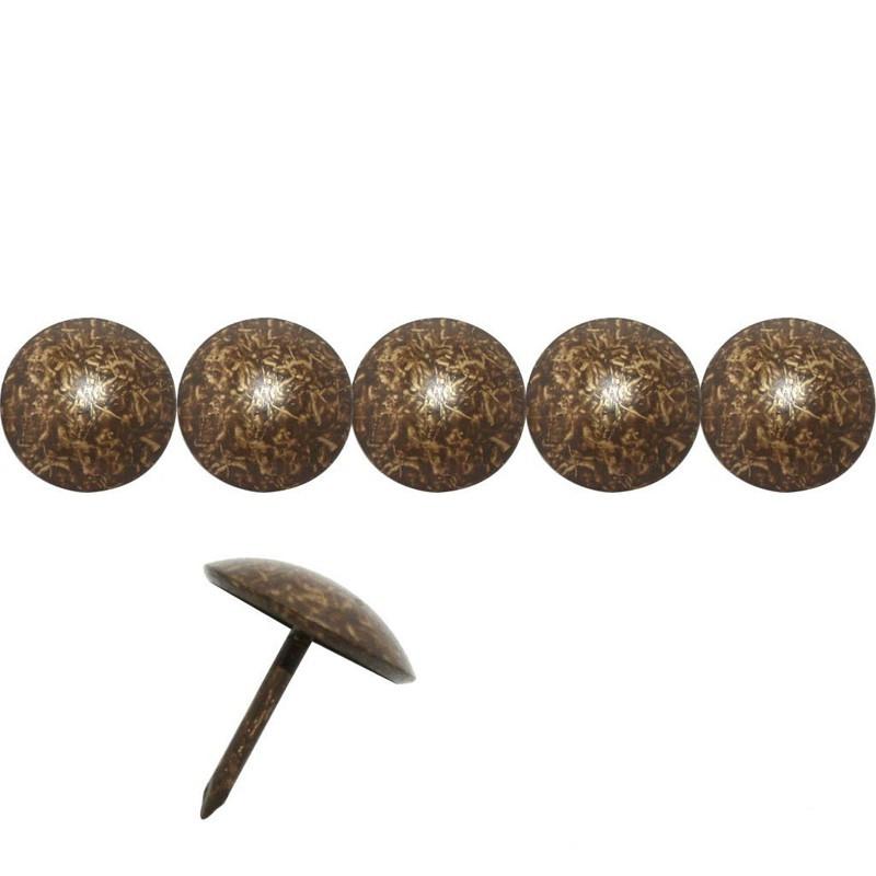 50 Clous tapissiers Bronze Doré 18 mm - Clous tapissier
