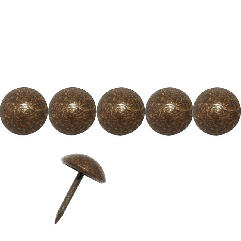 200 Clous tapissiers Bronze Doré 11 mm - Laiton - Clous tapissier