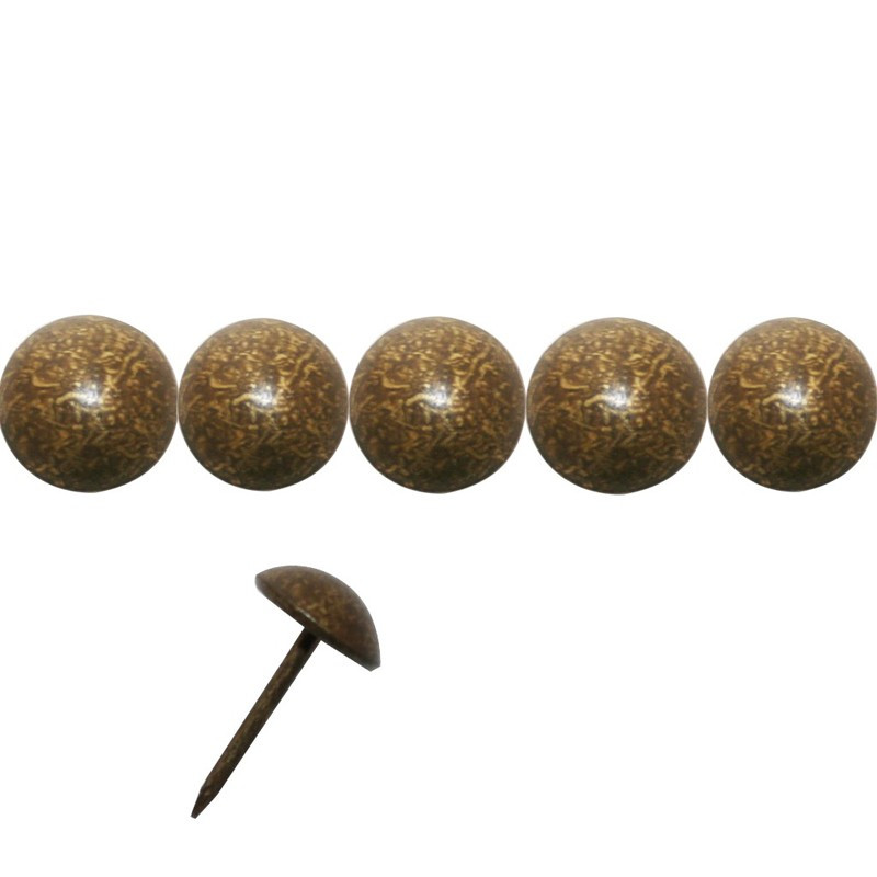 """200 Clous tapissiers \\""""Ivry\\"""" Vieilli Bronze Doré 10.5 mm - Pointe 19 - Clous tapissier"""