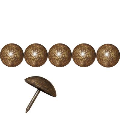 50 Clous tapissiers FAM Bronze Doré 22 mm