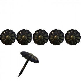 """100 Clous tapissiers \\""""Ivry\\"""" Bronze Renaissance 11 mm - marguerite - Clous tapissier"""